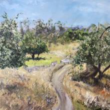 Oil painting of Circle P Ranch in Watsonville CA